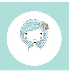 Horoscope Virgo sign girl head vector image vector image