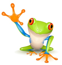 tree frog vector image