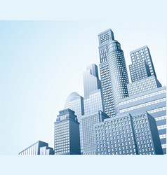 financial district urban city scape vector image