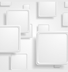 grey geometric abstract squares background vector image