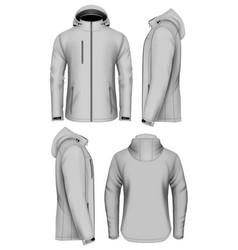 men softshell jacket with hood vector image