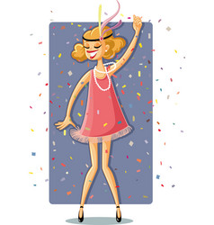 retro flapper party girl from the roaring 20s vector image vector image
