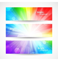 Set of bright colorful banners vector image vector image