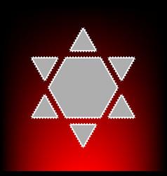 Shield magen david star inverse symbol of israel vector