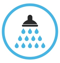 Shower Flat Icon vector image vector image
