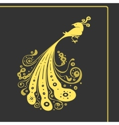 Symbol Big Bird with Tail Pattern vector image vector image