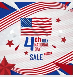 4th july usa independance day banner with american vector image