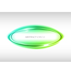 Abstract circle on white green vector