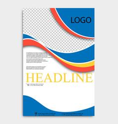 Abstract flyer design background brochure template vector