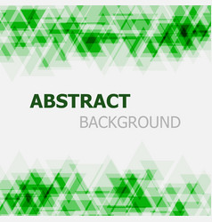 Abstract green triangle overlapping background vector