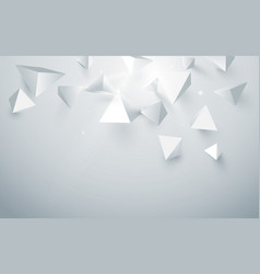 Abstract white 3d pyramids background vector