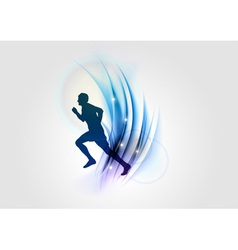 abstract white blue runner vector image