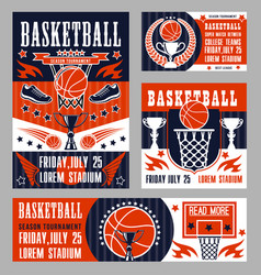 basketball sport college league championship vector image