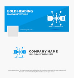 blue business logo template for architect vector image