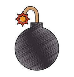 boom explosive isolated icon vector image