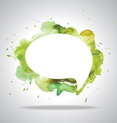 Bright speech cloud and blobs vector