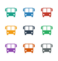 Bus airoirt icon white background vector