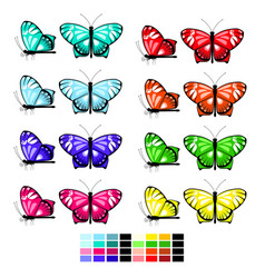 butterfly set 1 vector image