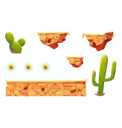 Cartoon elements arcade game platform 2d ui design vector