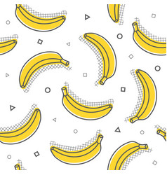 childish seamless pattern with cute banana vector image