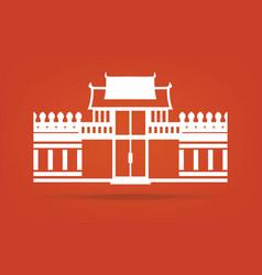 Chumphon Gate City gate vector image