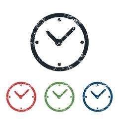 Clock grunge icon set vector