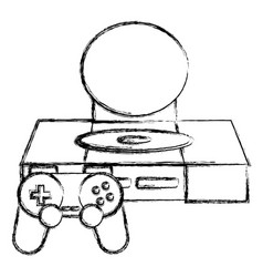 Console videogame isolated vector