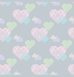 delicate valentines print pastel seamless pattern vector image