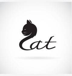 design cat is text on a white background pet vector image