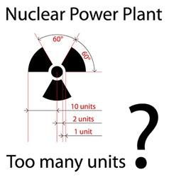 Dimensionally precise radiation symbol vector