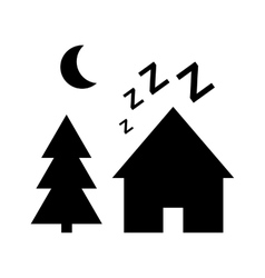 Dream village icon vector