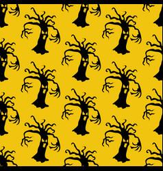 evil tree halloween pattern vector image vector image
