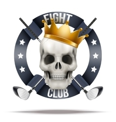 Fight club or team badges and labels logo vector
