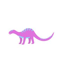funny hand drawn dinosaurs cartoons dino isolated vector image