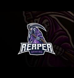 Grim reaper mascot sport logo design vector