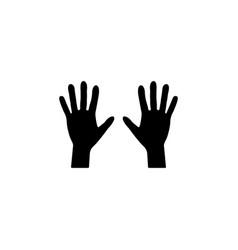 hand icon black vector image