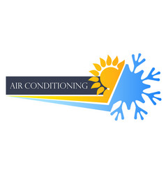 Heating cooling symbol vector