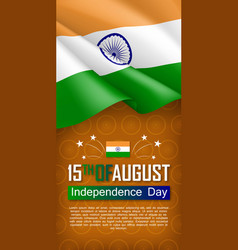 Indian independence day vertical flyer vector
