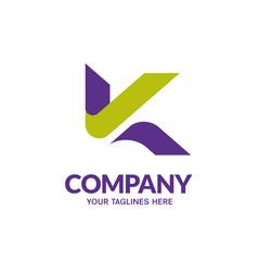 Initial letter k logo vector