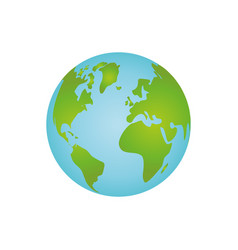Isolate globe world vector