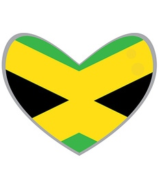 Isolated Jamaican flag vector image