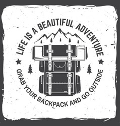 Life is a beautiful adventure vector