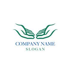 Logotype hands vector