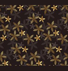 luxury geometric vanilla flower seamless pattern vector image