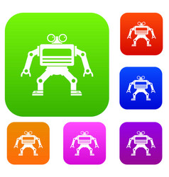 machine set color collection vector image