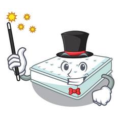 Magician mattress in cartoon on the shape vector