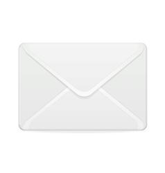 Mail template white vector