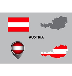 Map of Austria and symbol vector image