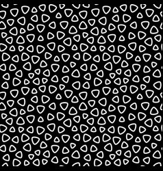 monochrome seamless pattern rounded lined figures vector image