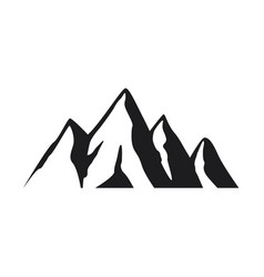 mountain icon on white background vector image